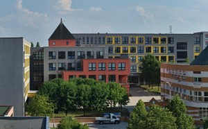 Škola, panorama sever