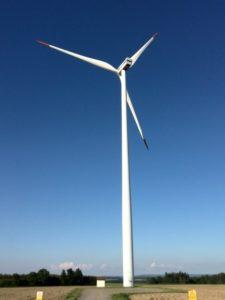 Větrná elektrárna, obec Kámen